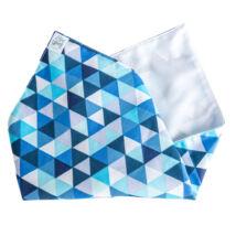 Greeny újraszalvéta, kék háromszöges, 33x33cm