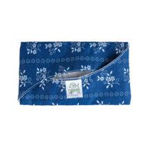 Greeny textil zsebkendőtartó - kék alapon fehér mintás