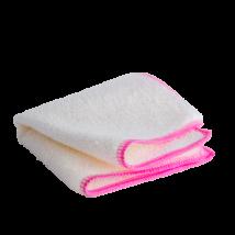 Vixi bambusz mosogatókendő, pink szegéllyel