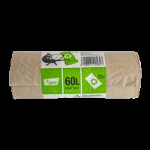 Szemeteszsák, újrahasznosított, 60l, 64x71cm, 20db