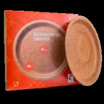 Búzakorpa lapos tányér, 24cm, 10db