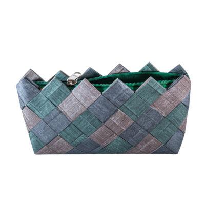 Greeny táska tapétából, zöld-szürke-kék