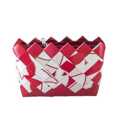 Greeny táska tapétából, piros-fehér
