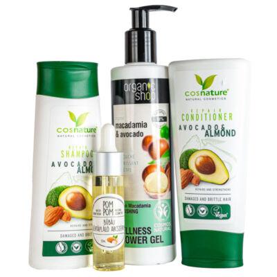 Greeny avokádó-mandula kozmetikai csomag
