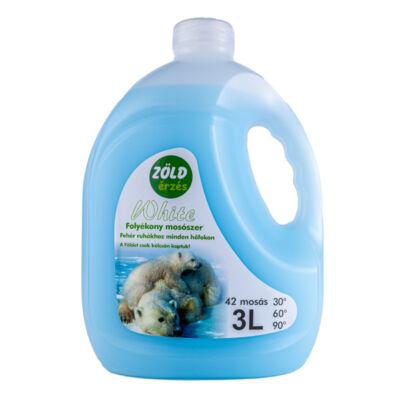 Zöld Érzés mosógél, White, 3l