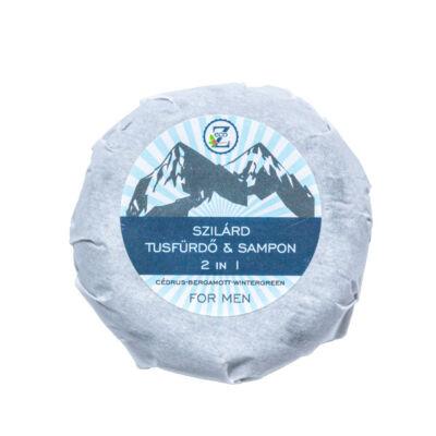 Eco-Z szilárd 2in1 tusfürdő & sampon tömb FOR MEN 85g