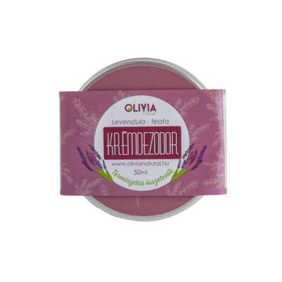Olivia Natural krémdezodor, teafa-levendula, 50ml