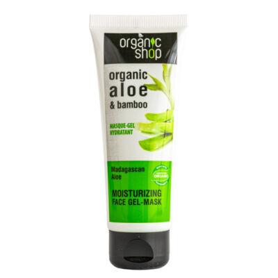 Organic Shop arcpakolás, hidratáló, bio aloe vera és bambusz, 75ml